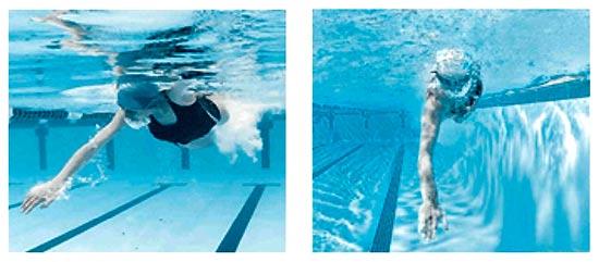 Технические ошибки в плавании пловца типа ударник